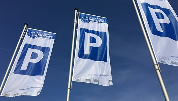 Parking space flags from Easy Airport Parking