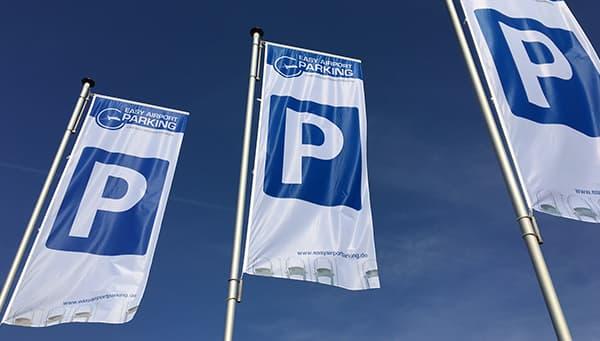 Parkplatz-Fahnen von Easy Airport Parking