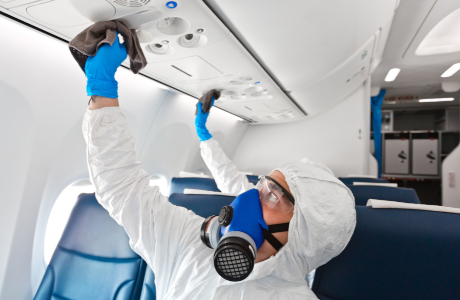 Disinfection in the aircraft