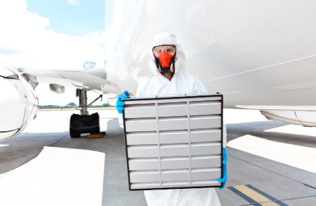Minimise the risk of infection: Air filter for aircraft