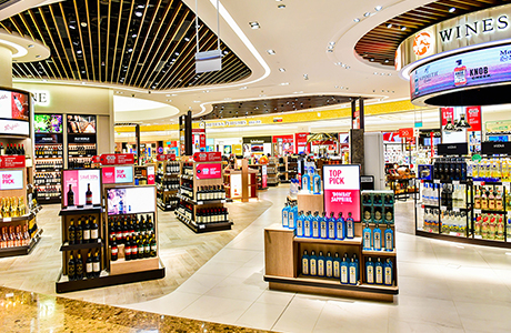 Duty-free shop from the inside